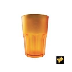 BICCHIERE GOLDPLAST DRINK SAFE GRANITY 400cc SAN ARANCIO SATINATO 5PZ X 15CF X C