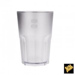 BICCHIERE GOLDPLAST DRINK SAFE GRANITY 400cc SAN TRASPARENTE SATINATO 5PZ X 15CF