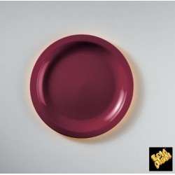 PIATTO DESSERT GOLDPLAST ROUND D185mm PP BORDEAUX 50PZ X 12CF X CT