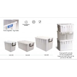 CASSETTA FOOD BOX CON COPERCHIO 58X38X26 20LT BIANCA