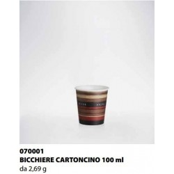 BICCHIERE CARTONCINO ISAP PASSO E BEVO VERONA 100cc 50PZ X 25CF X CT
