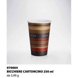 BICCHIERE CARTONCINO ISAP PASSO E BEVO VERONA 250cc 50PZ X 20CF X CT