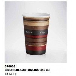 BICCHIERE CARTONCINO ISAP PASSO E BEVO VERONA 350cc 50PZ X 20CF X CT