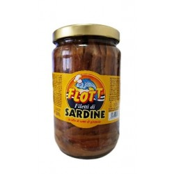 SARDE FILETTO IN OLIO DI GIRASOLE FLOTT 1,7KG 6PZ X CT