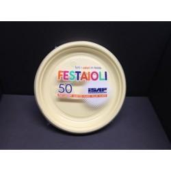 PIATTO DESSERT ISAP FESTAIOLI D17cm PS CREMA 50PZ X 22CF X CT