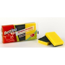 SPUGNA ABRASIVA BETTINA MULTICOLOR 3PZ X 24CF X CT