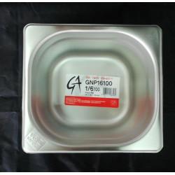 BACINELLA GN 1/6 176X162 H.10 ACCIAIO INOX