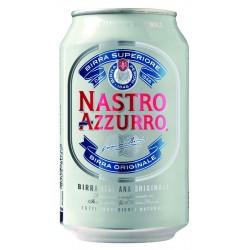 BIRRA NASTRO AZZURRO LATTINA 33CL 24PZ X CT