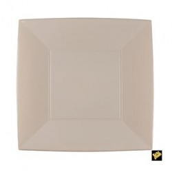 PIATTO PIANO GRANDE GOLDPLAST NICE 290mm PP TAUPE 6PZ X 10CF X CT