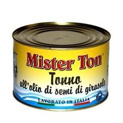 TONNO IN TRANCI IN OLIO DI GIRASOLE CALLIPO MR TONNO 1,650KG 6LA X CT