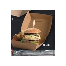 HAMBURGER BOX LEONE 12X12X7 KRAFT/PE AVANA BIANCO 50PZ X CF