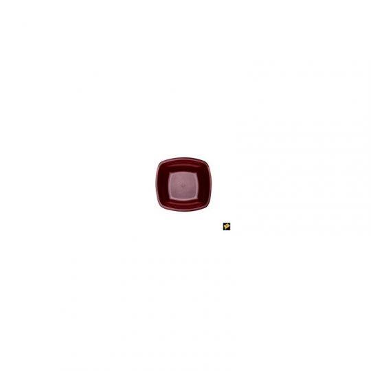 PIATTO FONDO GOLDPLAST SQUARE 180mm PP BORDEAUX 25PZ X 12CF X CT